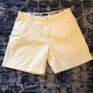 J. Crew pale yellow flat front shorts